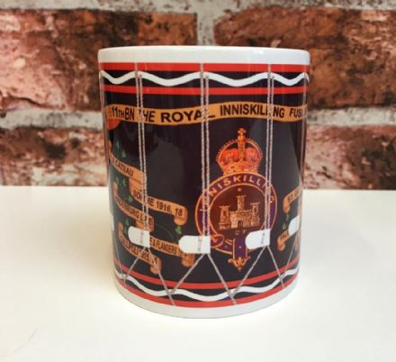 11th Bn The Royal Inniskilling Fusiliers Drum Mug